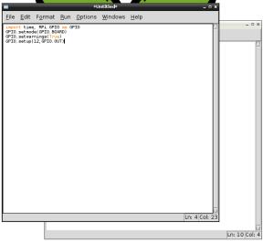 IDLE3 window for Python program